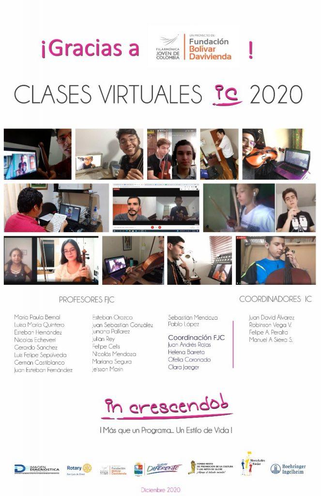 Agradecimientos clases virtuales 2020